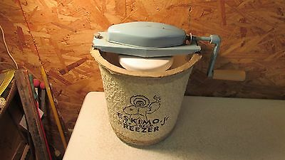 Antique Eskimo Paper Mache Ice Cream Freezer- Nice