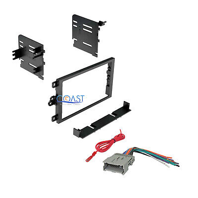 Car Radio Stereo Double Din Dash Kit Wiring Harness for 1992-up GM Chevy Isuzu