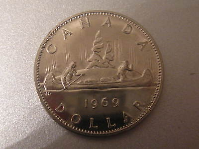 Canada 1969 One Dollar Coin.