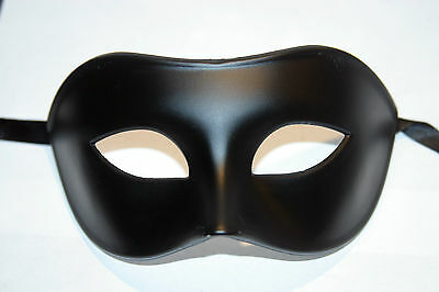 MENS QUALITY MENS MIDNIGHT BLACK Venetian Masquerade Party Eye Carnival Mask