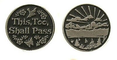 This Too Shall Pass Pocket Token Coin - set of 2