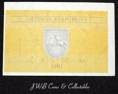 1991 Lithuania 0.20 Talonas Banknote Uncirculated,
