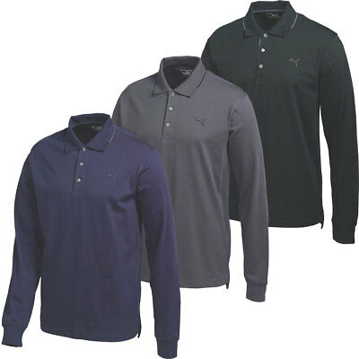 43% OFF RRP Puma Golf Mens Long Sleeve Solid Polo Shirt 570099 LS DryCELL Tech