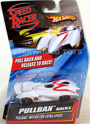 Hot Wheels Speed Racer PULLBAX MACH 6  NEW Mattel pullback & release to race!