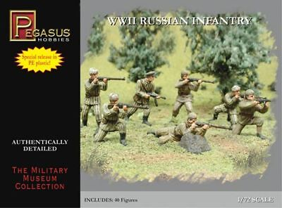 Pegasus 7498 WWII Russian Infantry 1/72 Scale Plastic Model Figures