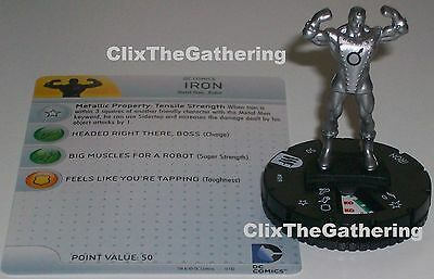 Iron Common DC HeroClix M//NM with Card World/'s Finest 009