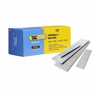 Tacwise 0401 18G 50mm Galvanised Steel Brad Nails 5000 for DGN50V, R18N18G-0