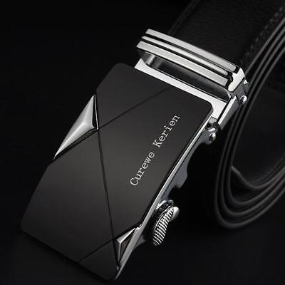 New Men Genuine Leather Automatic Buckle Belts Luxury Waist Strap Belt Waistband