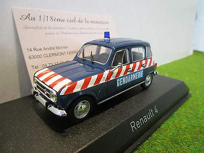 RENAULT 4L de 1968 GENDARMERIE au 1/43 NOREV 510049 voiture miniature collection