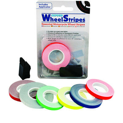Oxford Wheel Stripes Reflective Motorcycle Fluorescent Tape + 3M Applicator Red