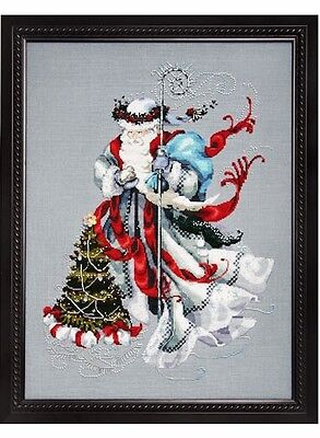 Mirabilia Designs - Winter White Santa Cross Stitch Chart Pack (Md100)