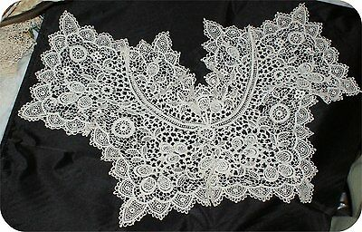 ORNATE Antique VICTORIAN STYLE  LACE COLLAR  VINTAGE WHITE  #3