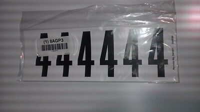 "Number Label, 4, White 3"" H, Pk 5 #34099W4 (M0979)"