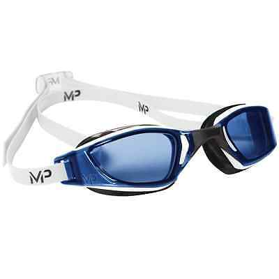 Aqua Sphere Michael Phelps XCEED Blue Curved Lens Pro Racing Swimming Goggles