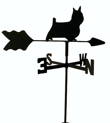 Silky Terrier Garden Weathervane Wrought Iron Look Made In Usa Tls1054In