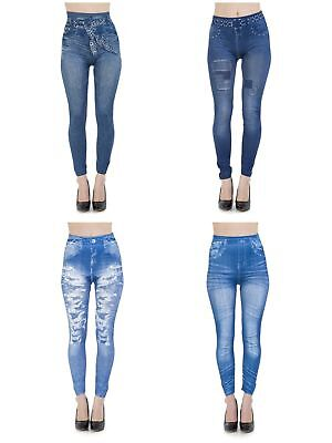 Womens Ladies Ripped SkinnyJeans Jeggings Leggings Size 6 8 10 12 14 16 18 20