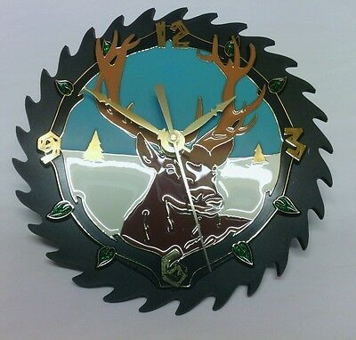 Deer Sawblade Clock KIT: Simple assembly,make your own,easy,all parts included!