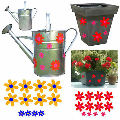 Decorative daisy watering can stickers plant pot stickers canal boat stickers
