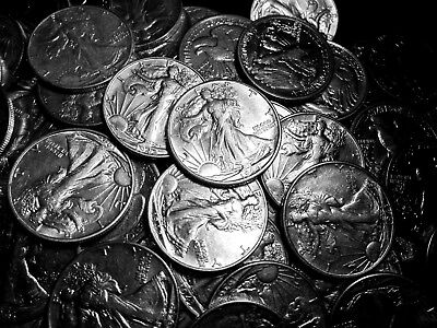 1916-1947 ~*ONE(1) XF+/AU*~ Silver Walking Liberty Half Dollar Rare US Coin Lot!