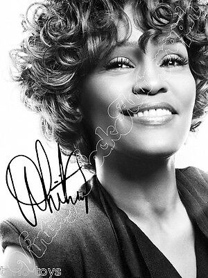 WHITNEY HOUSTON - print signed photo - foto con autografo stampato