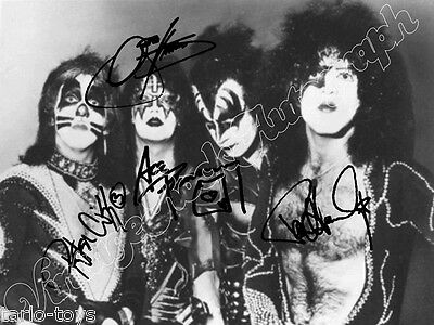 KISS - Stanley, Simmons ... - print signed photo - foto con autografo stampato