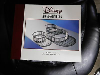 Disney Masterpieces Master Proof Set Display Case Only All Papers Boxes No Coins