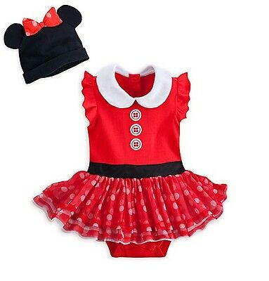 0334b302395 Disney Store Minnie Mouse Baby Deluxe Costume Outfit   Hat 3 6 9 12 18 24