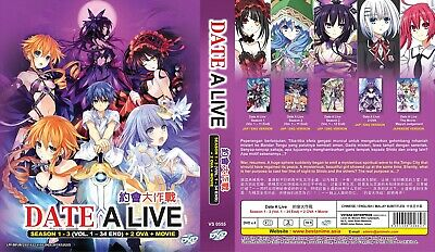 DATE A LIVE Box | S1+S2+OVAs+Movie | 25 Eps. | Engl. Audio! | 3 DVDs (DT1097)