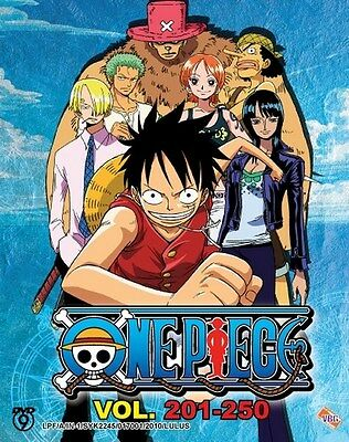ONE PIECE TV Box 05   Episodes 201-250   English Subs   4 DVDs (VBG0063)-LU