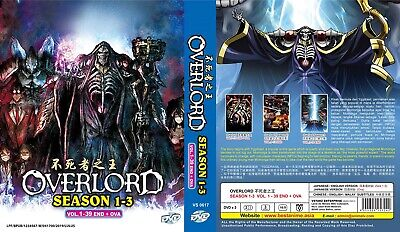 OVERLORD Box Set | S1+S2+OVA | Eps 01-26+1 | English Audio! | 2 DVDs (VS0421)
