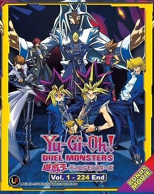 YU-GI-OH! Duel Monsters+Movie | Episodes 001-224 | English Subs | 9 DVDs (M1620)