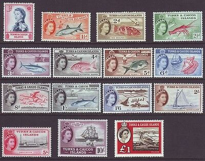 Turks & Caicos Islands 1957 SC 121-135 MH Set