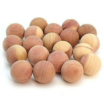 12 x Red Cedar Wood Balls Natural Moth Repeller Deterrent Wardrobe Drawers Fresh