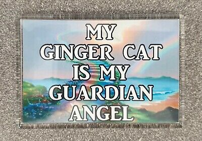 My Ginger Cat Is My Guardian Angel Fridge Magnet Gift/Present Kitten