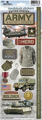 Paper House United States  Us Army Militarycardstock Scrapbook Stickers