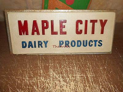 Maple City Dairy Products Lighted Store Sign Monmouth Illinois