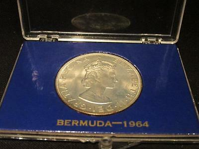 Bermuda 1964 Silver Crown Coin Uncirculated in Plastic Presentation Case