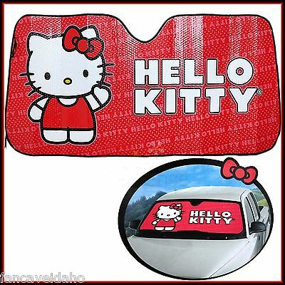 Sanrio Red Hello Kitty Deluxe Car Auto Windshield Sun Shade Sunshade Screen