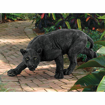 Realistic Life Like Wild Life Panther Animal Sculpture Garden Statue Yard Decor