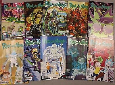 Rick And Morty Oni Press Comic Book 1,2,3,4,5,6,7,8, 9,10 Nm 10 Assorted Prints