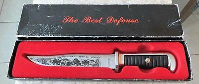 "Vintage Rostfrei Original Bowie Knife 10 1/2"" in box Free Shipping"
