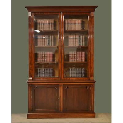 Magnificent Huge Beautifully Figured Mahogany Antique Library Bookcase