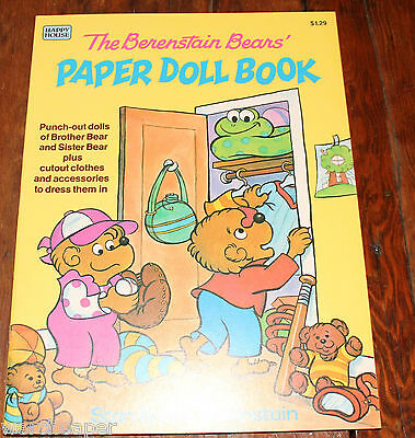 Vintage Berenstain Bears Paper Doll Book Unused First Edition 1984