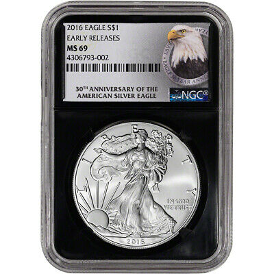 2016 American Silver Eagle - NGC MS69 - Early Releases - 30th Anniversary Retro