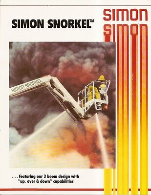 Fire Equipment Brochure - Simon Snorkel - SS 220 et al Elevating Platform (DB07)