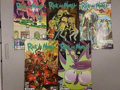 Rick And Morty Oni Press Comic Book 1,2,3,4,5 Nm 5 Assorted Prints
