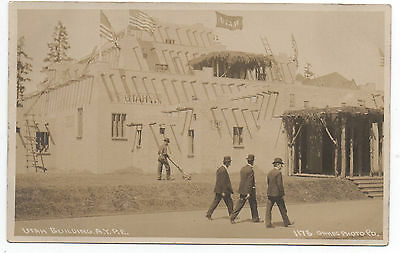 1909 RPPC Postcard Utah Building at AYP Alaska Yukon Pacific Exposition Seattle