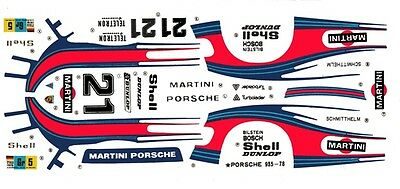 #21 MARTINI RACING PORSCHE 935 1/24th Scale Waterslide Decal