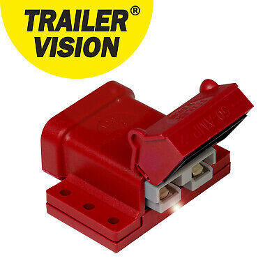 Anderson Connector  50Amp 50A Plug Cover Red External Mounting Bracket Kit