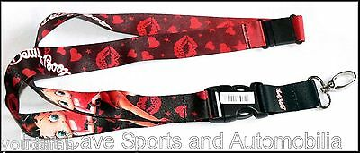 Betty Boop Sweet Kisses ID Badge Lanyard with Breakaway Clip Keychain